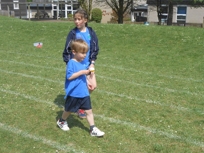 Clavering Primary School Year 6 P.E. With Their Reception
