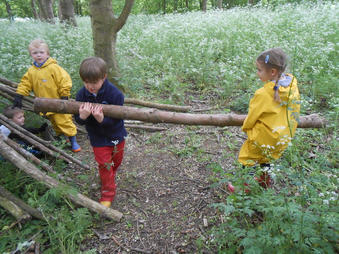 Clavering Primary School Reception Forest School 'Going On