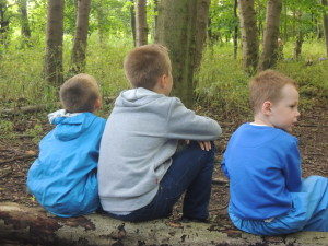 Buddies at Forest School 031-2