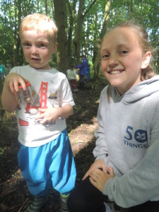 Buddies at Forest School 041