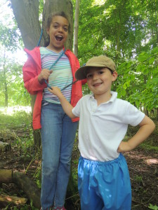 Buddies at Forest School 050