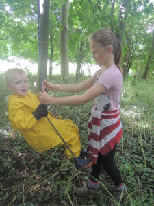 Buddies at Forest School 067